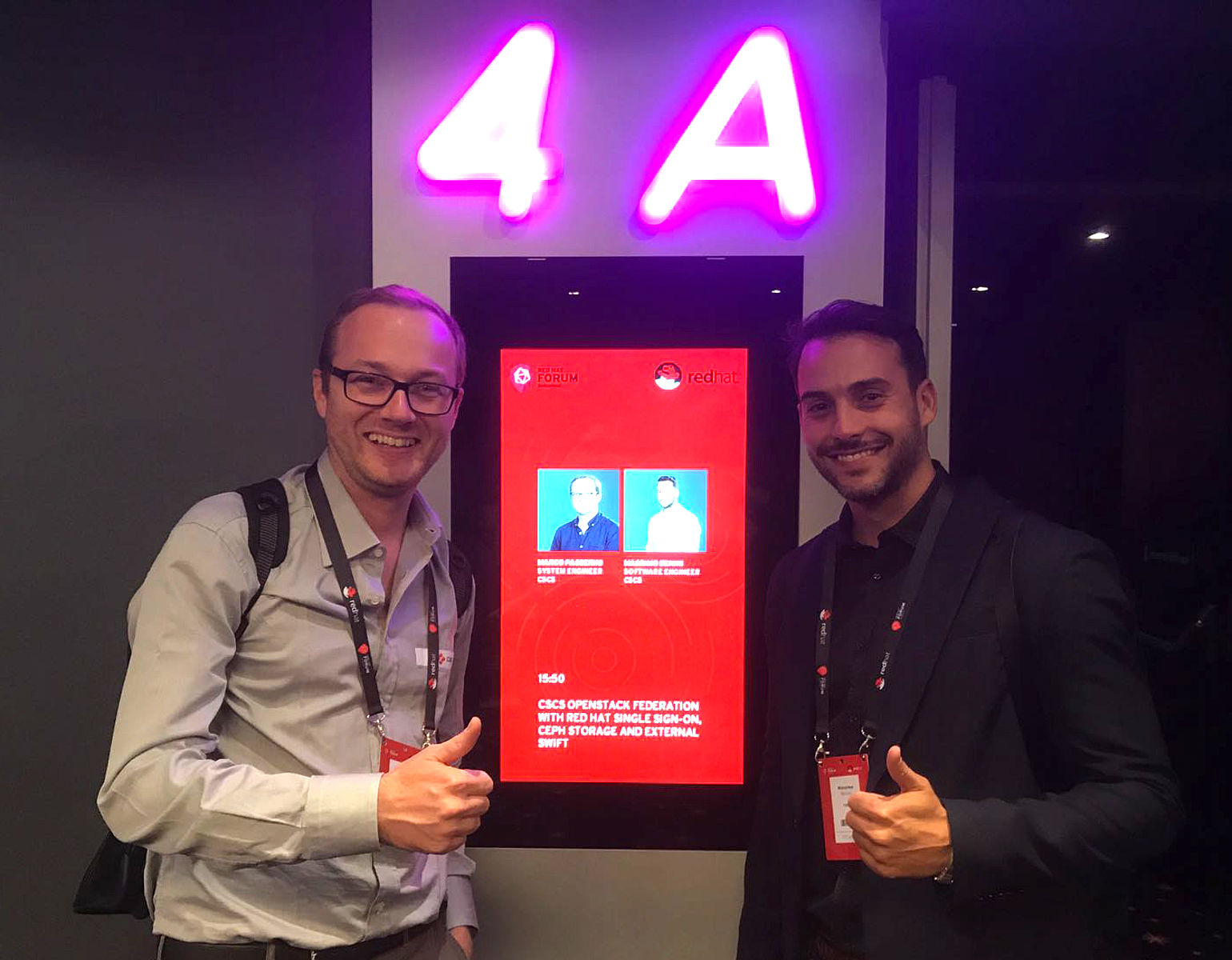 Massimo and Marco: Our experience at Red Hat Forum Switzerland | CSCS